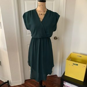 Lush dress dark green.